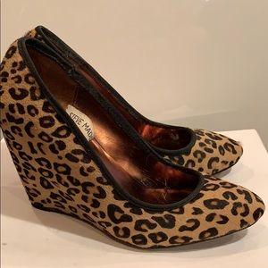 Leopard Print Wedge Pump